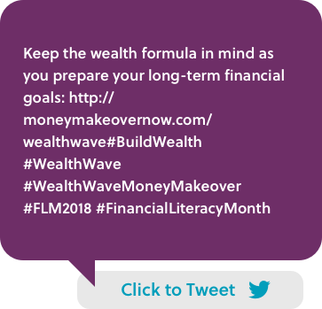 Keep the wealth formula in mind